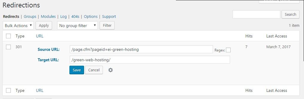 Wordpress page redirection plugin
